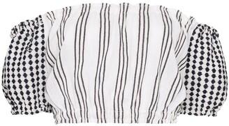 Lemlem Tigist striped off-the-shoulder crop top