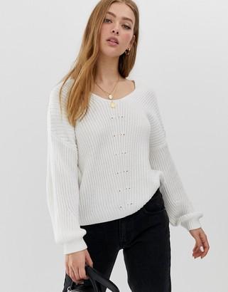 Only V-Neck Knit-Cream