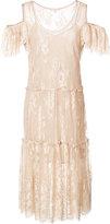 Gold Hawk cold shoulder dress - women - Nylon/Polyester - L
