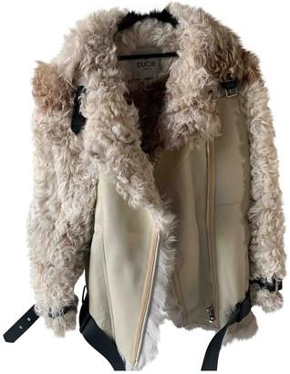 Ducie Beige Shearling Jacket for Women