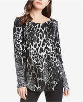 Karen Kane Animal-Print Long-Sleeve Top