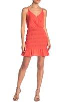Do & Be Do + Be Smocked Surplice Mini Dress
