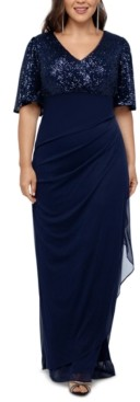 Xscape Evenings Plus Size Sequined A-Line Gown