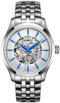 Rotary Mecanique Silver Tone Stainless Steel Bracelet Mens Watch