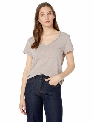 Democracy Women's Short Sleeve Tee with Metal Chain Detail