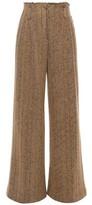 Missoni Herringbone Wool And Cotton-blend Wide-leg Pants