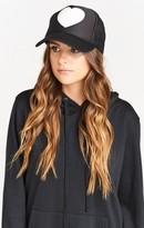 MUMU Mu Heart Trucker Hat ~ Black