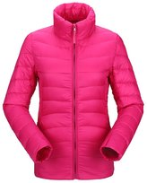 Pink Queen Juniors Winter Solid Lightweight Thin Slim Down Jacket Coat L