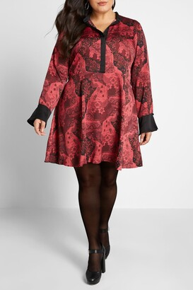 ModCloth Retro Romance Long Sleeve Dress
