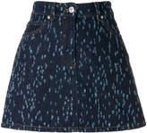 Versus A-line denim skirt