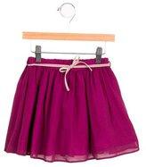Marie Chantal Girls' Silk Bow-Accented Skirt