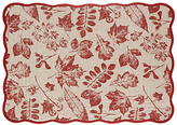John Lewis Berries Cotton Placemat, Red