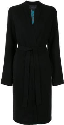 Shanghai Tang Mandarin-collar long coatigan