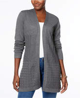 Karen Scott Mixed-Knit Cardigan, Created for Macy's