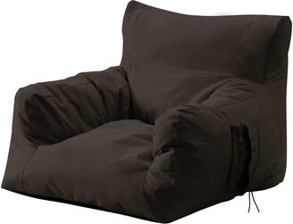 Loungie Comfy Nylon Bean Bag Floor Arm Chair