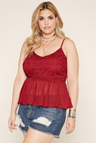 Forever 21 FOREVER 21+ Plus Size Chiffon-Hem Cami