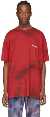 Off-White Red and Black Tie-Dye T-Shirt