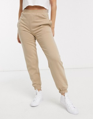 New Look cuffed jogger in camel