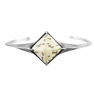 No 13 Sami Reindeer Pyramid Bangle Silver