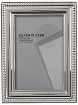 Evergreen Tarnish Resistant Silver Plated Bead Photo/Picture Frame, 4x6 inch