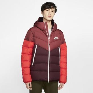 Nike Hooded Puffer Jacket Sportswear Windrunner Down Fill