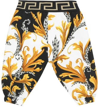 Versace Kids Baby Acanthus cotton trackpants
