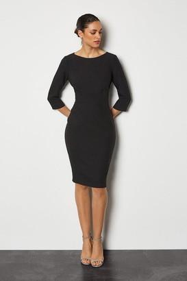 Karen Millen Seam Detail 3/4 Sleeve Tailored Dress