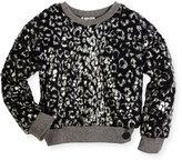 Kenzo Coated Plush Pullover Sweater, Black, Size 8-12