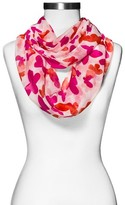 Xhilaration Women's Butterfly Print Infinity Scarf Pink