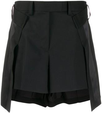 Sacai Satin-Trimmed Shorts