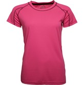 Trespass Womens Mamo Poly Training Top Hi Viz Pink