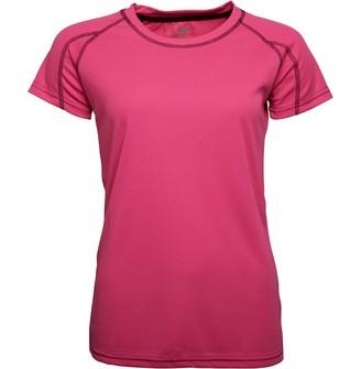 Trespass Womens Mamo Poly Training Top Hi Viz Pink