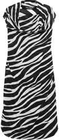 Junya Watanabe Draped zebra-print georgette dress