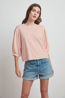 Velvet by Graham & Spencer Amara Cotton Slub 3/4 Sleeve Tee