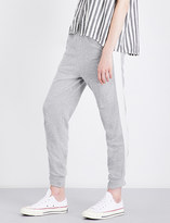 Clu Striped-detail skinny cotton and silk jogging bottoms
