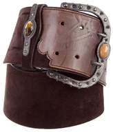 Valentino Leather & Suede Waist Belt