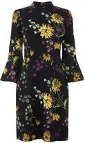 Warehouse Dutch Floral Ponte Dress