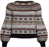 Alexander McQueen Fair Isle-jacquard balloon-sleeved sweater