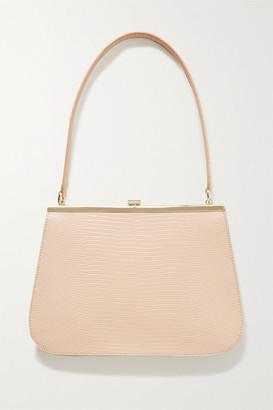 TL-180 Anouk Lizard-effect Leather Shoulder Bag - Blush