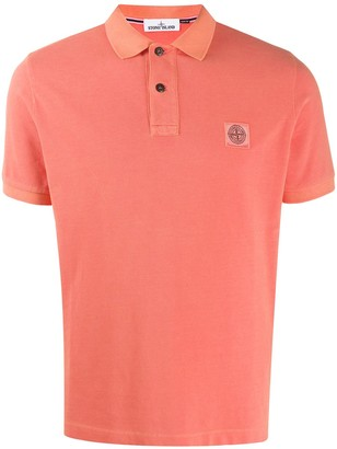Stone Island Logo-Patch Polo Shirt