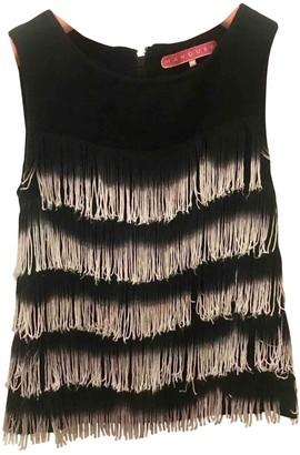 Manoush Black Linen Top for Women