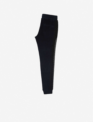 The Kooples Sport Lace-trim stretch-jersey jogging bottoms