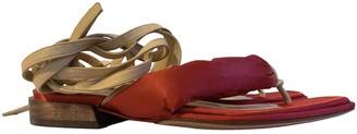 Mari Giudicelli Red Leather Sandals