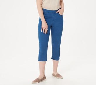 Denim & Co. Soft Stretch 5-Pocket Pull-On Capri Jeans
