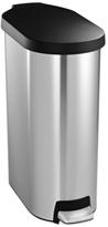Simplehuman Brushed Stainless Steel & Plastic Lid 45 Liter Slim Step Trash Can
