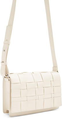 Topshop Basket Weave Faux Leather Bag