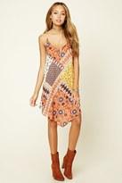 Forever 21 FOREVER 21+ Floral Print V-Neck Cami Dress