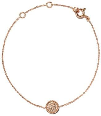 As 29 18kt rose gold Mye round beading pave diamond bracelet