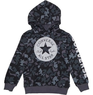 Converse Infant Boys Signature Chuck Print Camo Hoodie Black
