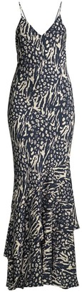 Rebecca Vallance Lola Printed Maxi Bodycon Dress